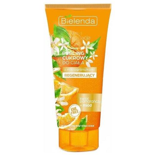 Фото - Bielenda Personal care Сахарный скраб для тела Мед и апельсин, 200 г косметика для мамы bielenda exotic paradise сахарный скраб для тела увлажняющий дыня 350 г