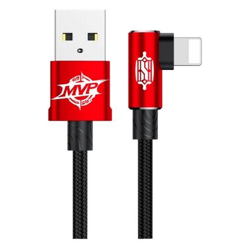 Кабель Baseus MVP Elbow USB - Lightning (CALMVP) 1 м красныйКомпьютерные кабели, разъемы, переходники<br>