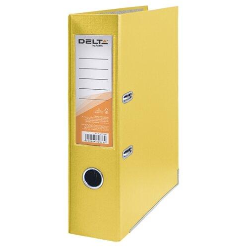 Купить Delta by Axent Папка-регистратор A4 с односторонним покрытием, 7, 5cм желтый, Файлы и папки