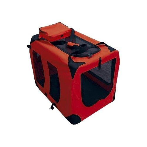 Домик-переноска для кошек и собак GiGwi Pet Travel 75209 60х42х42 см красный