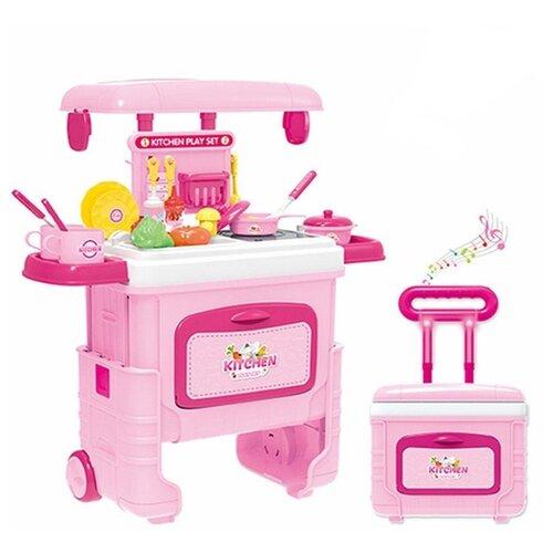 цена на Кухня J'D Toys 3605 розовый/белый