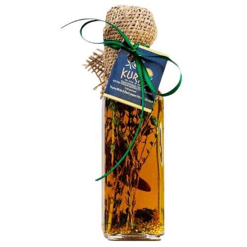 KURTES Масло оливковое Extra virgin пикантное, с добавлением чабреца и специй 0.1 л
