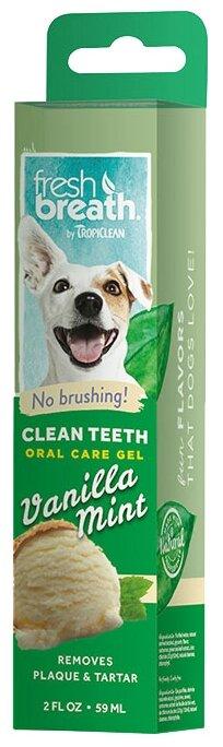 Косметика для собак Tropiclean Гель для чистки зубов с ванилью и мятой для собак (50 гр / 59 мл)