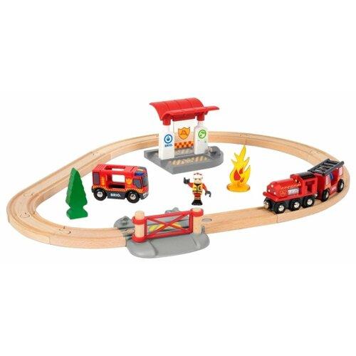 Купить Brio Стартовый набор Пожарная станция , 33815, Наборы, локомотивы, вагоны