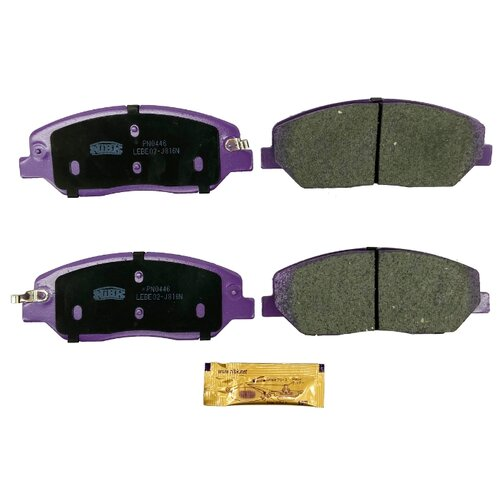 Дисковые тормозные колодки передние NIBK PN0446 для Ssang Yong Actyon, Kia Sorento, Hyundai Santa Fe (4 шт.)