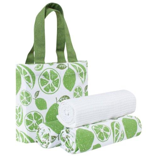 Guten Morgen набор полотенец в сумке Мохито кухонное 45х70 см зеленый набор для приготовления мохито и кайпириньи koala