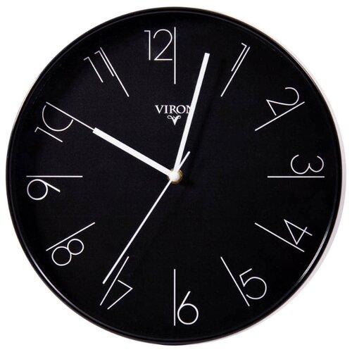 Часы настенные кварцевые Viron 222473 черныйЧасы настенные<br>