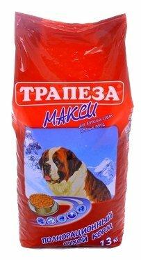 Корм для собак Трапеза (13 кг) Макси для взрослых собак крупных пород