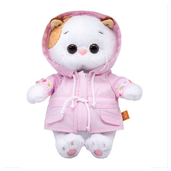 Мягкая игрушка Basik&Co Кошка Ли-Ли baby в курточке 20 см