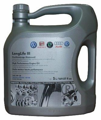 Моторное масло Volkswagen LongLife III 5W-30 5л