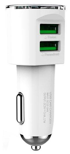 Автомобильная зарядка LDNIO DL-C29 + Micro USB