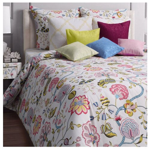 Постельное белье 2-спальное Mona Liza Country 70х70 см, бязь белый/розовый цена 2017