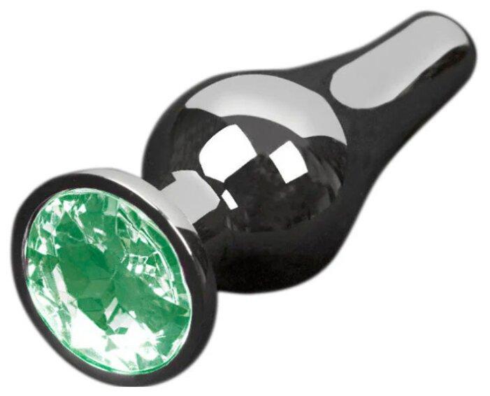Купить Пикантные штучки Анальная пробка с кристаллом 12 см, графитовый/зеленый по низкой цене с доставкой из Яндекс.Маркета (бывший Беру)