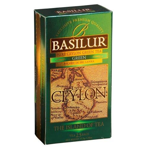 Чай зеленый Basilur The island of tea Ceylon в пакетиках, 25 шт.Чай<br>