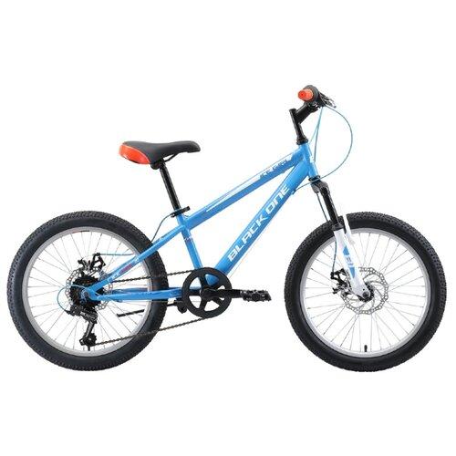 Подростковый горный (MTB) велосипед Black One Ice Girl 20 D (2019) голубой/белый/оранжевый (требует финальной сборки)
