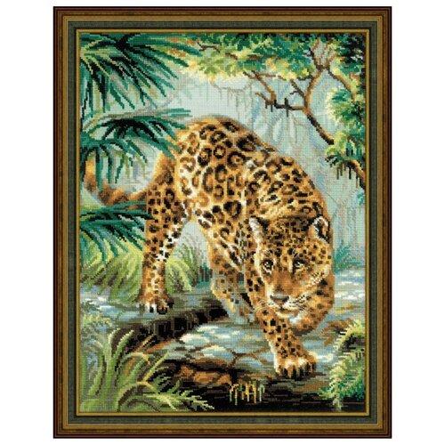 Купить Риолис Набор для вышивания крестом Хозяин джунглей 30 x 40 (1549), Наборы для вышивания