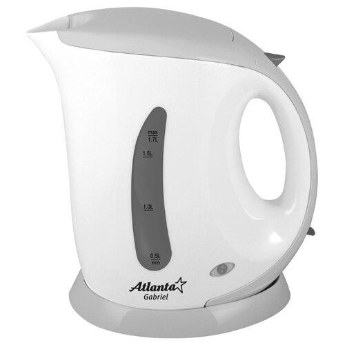 Чайник Atlanta ATH-748, белый/серый чайник atlanta ath 2461 белый
