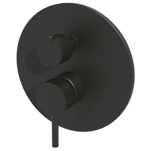 Смеситель Paffoni, серии LIGHT, встраиваемый для душа, черный матовый LIG018NO смеситель для ванны с подключением душа paffoni el015no m однорычажный встраиваемый черный матовый