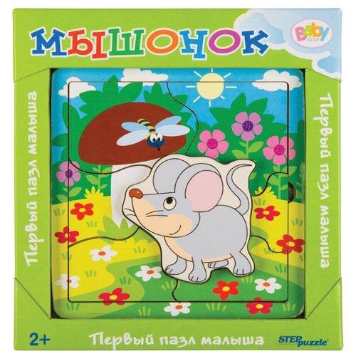 Фото - Рамка-вкладыш Step puzzle Baby Step Мышонок (89069), 7 дет. рамка вкладыш step puzzle baby step мышонок 89069 7 дет