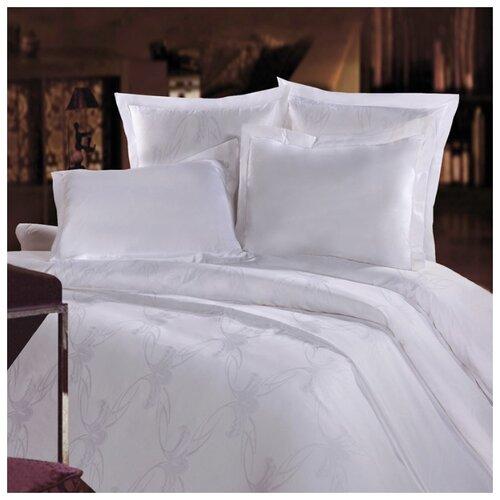 цена Постельное белье 2-спальное Mona Liza Royal Вензель белый 5438/01 сатин-жаккард белый онлайн в 2017 году