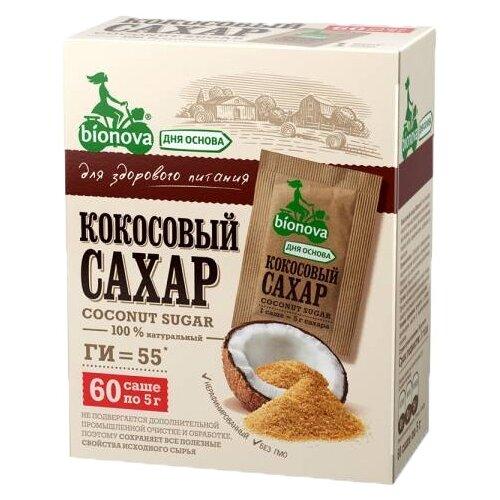 Сахар BIONOVA кокосовый порционный 0.3 кг