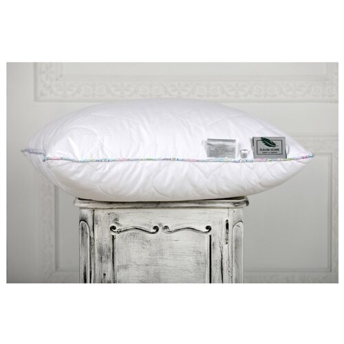 Подушка Flaum Home Country 70 х 70 см белый/голубойПодушки<br>