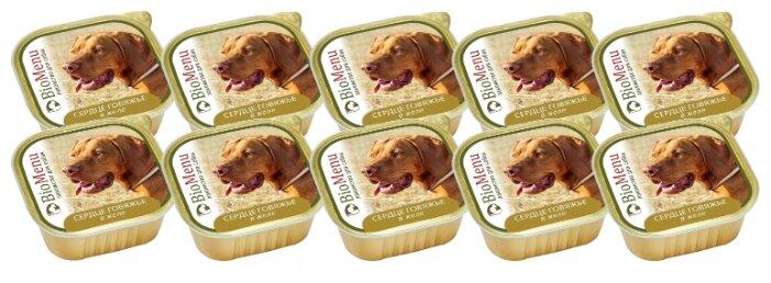 Корм для собак BioMenu Adult консервы для собак сердце говяжье в желе