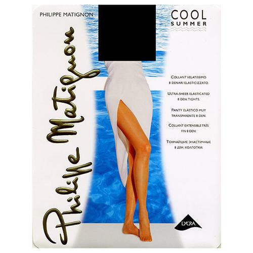 Колготки Philippe Matignon Cool summer 8 den, размер 2-S, the (коричневый) s cool пиджак s cool для мальчика