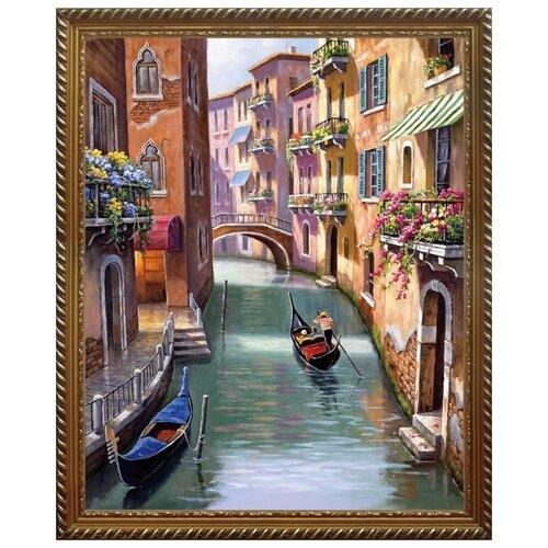 Алмазная живопись Набор алмазной вышивки Венецианская улочка (АЖ-1413) 40x50 см алмазная мозаика тм цветной нежные цветы в белой вазе 40x50 см