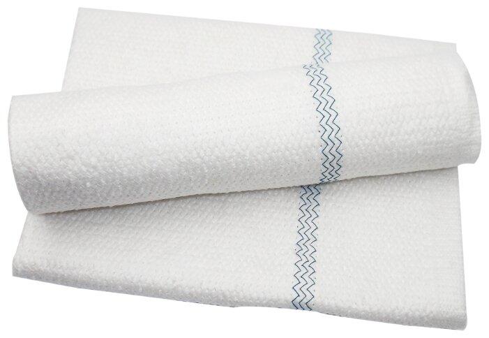 Тряпка флисовая для пола aQualine 50х60 см. 2 шт. белый/голубой