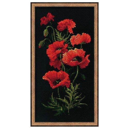 Купить Риолис Набор для вышивания крестом Маки 25 х 50 см (1057), Наборы для вышивания
