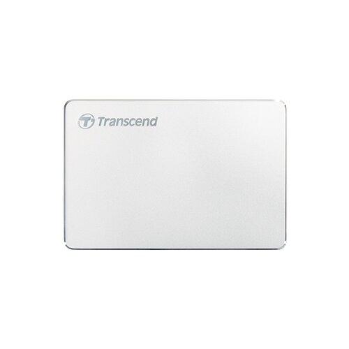Внешний HDD Transcend StoreJet 25C3S 1 ТБ серебристый