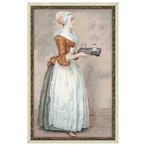 Купить Риолис Набор для вышивания Premium Шоколадница (по мотивам картины Ж.Э. Лиотара) 24 х 40 см (100/023), Наборы для вышивания