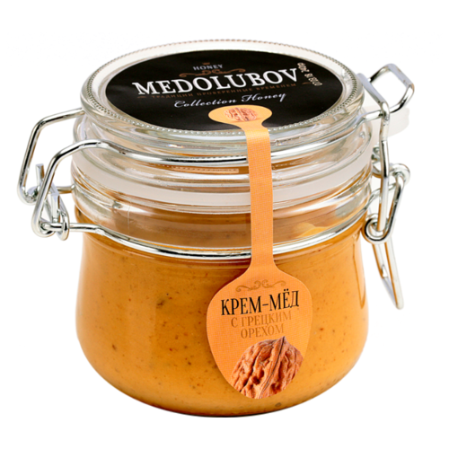 Крем-мед Medolubov с грецким орехом (бугель) 250 мл
