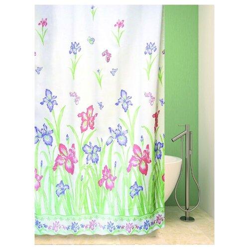 Фото - Штора для ванной Bath Plus Flower Village 180х180 белый/голубой/зеленый tropical flower plus size bikini set