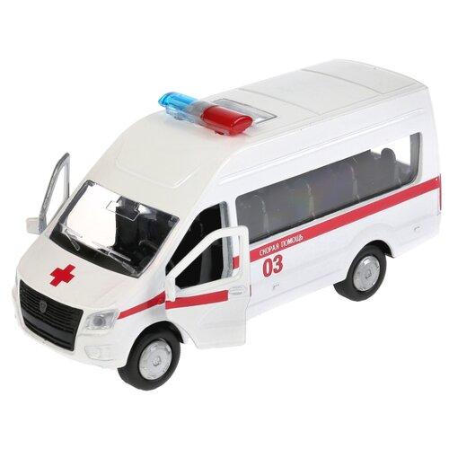 Купить Микроавтобус ТЕХНОПАРК ГАЗель NEXT Скорая помощь (SB-18-19-A-W-WB/SB-18-19-A-Y-WB) 12 см белый, Машинки и техника