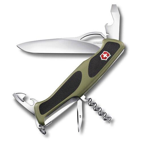 Нож многофункциональный VICTORINOX RangerGrip 61 (11 функций) зеленый/черный нож перочинный victorinox rangergrip 61 0 9553 mc4 130мм 11 функций чёрно зеленый