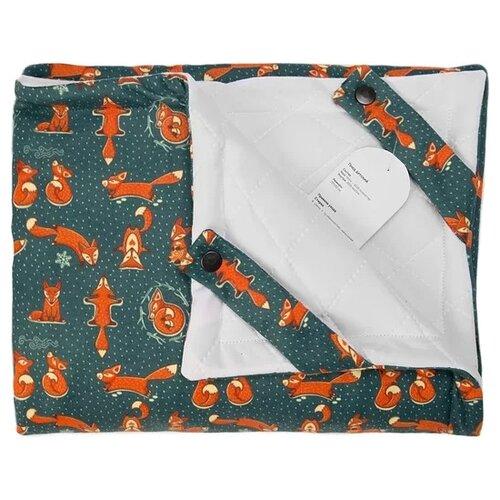 Купить Плед МиМиМи Лисички 70х105 см синий/оранжевый, Покрывала, подушки, одеяла