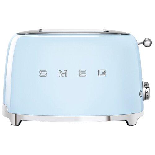 Тостер smeg TSF01PBEU, пастельный голубой соковыжималка для цитрусовых smeg пастельный голубой cjf01pbeu