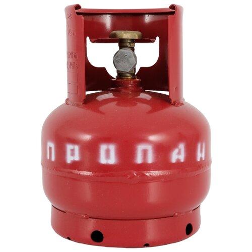 Газовый баллон NOVOGAS 5 л с предохранительным клапаном стальной 5 л
