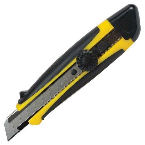 BRAUBERG Нож универсальный 235402 18 мм желтый/черный