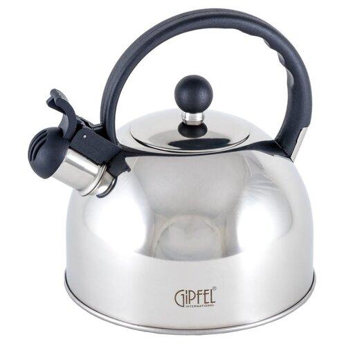 GIPFEL Чайник со свистком Estella 8598 2,5 л, матовая сталь