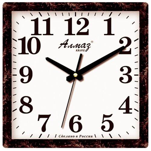 Часы настенные кварцевые Алмаз K42/K43 темно-серый/белый часы настенные кварцевые алмаз e66 серый