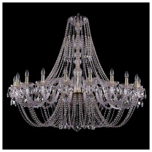 Люстра Bohemia Ivele Crystal 1406 1406/20/530/G, E14, 800 Вт bohemia ivele crystal 1406 24 12 12 6 530 230 4d g