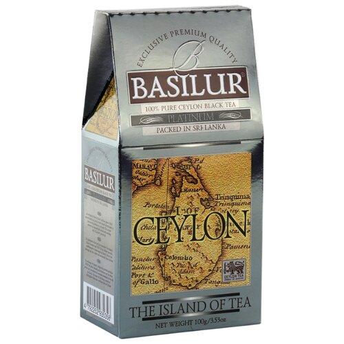 Чай черный Basilur The island of tea Ceylon Platinum , 100 г basilur tea book v черный листовой чай 100 г жестяная банка