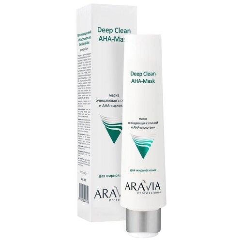 Aravia Deep Clean Маска очищающая с глиной и AHA-кислотами для лица, 100 мл очищающая маска с активированным углем aravia отзывы