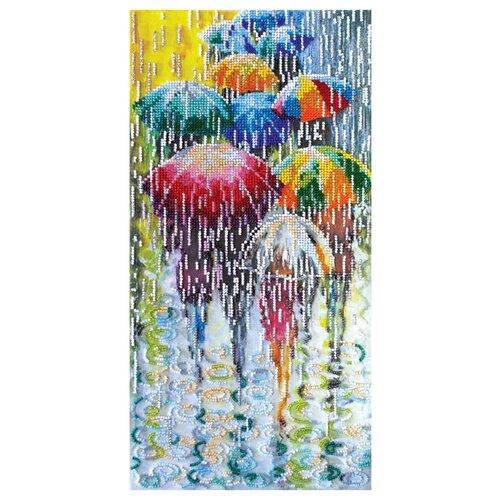 ABRIS ART Набор для вышивания бисером Веселые зонтики 40 х 20 см (AB-434)