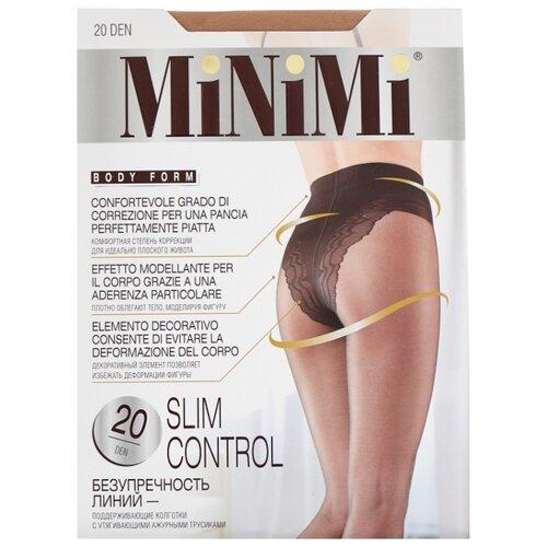 Колготки MiNiMi Slim Control 20 den, размер 3-M, caramello (бежевый) колготки minimi slim control 20 den размер 3 m caramello бежевый