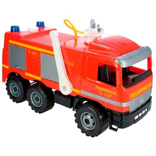 Купить Каталка-толокар Lena Пожарная машина Mercedes (02058) красный, Каталки и качалки