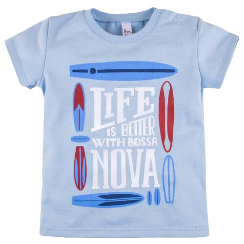 Футболка Bossa Nova размер 86, голубойФутболки и рубашки<br>